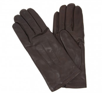 Brown leather gloves - NCE