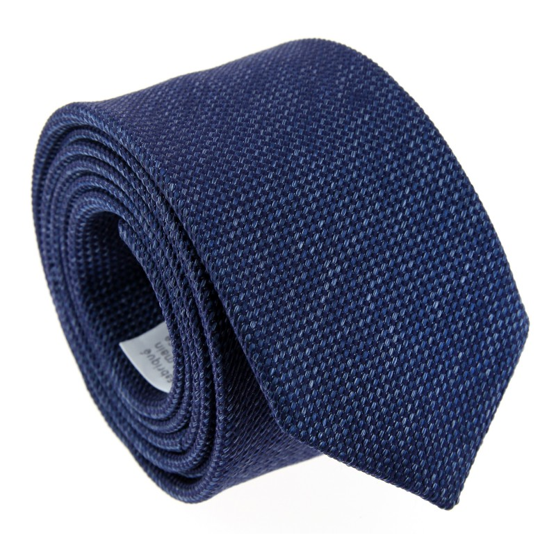 Blue Basket Weave Silk Tie - Baltimore II