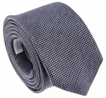 Grey Basket Weave Silk Tie - Baltimore II