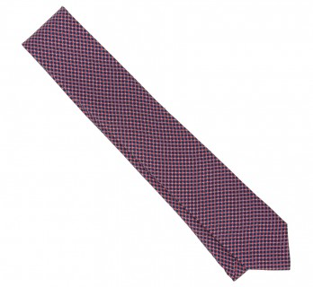 Navy Blue The Nines Tie with Red Pattern
