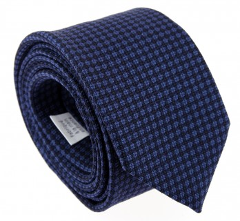 Navy Blue The Nines Tie with Square Pattern - Savone II