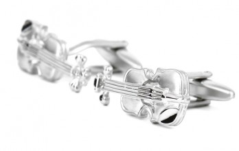 Violin cufflinks - Stradivarius