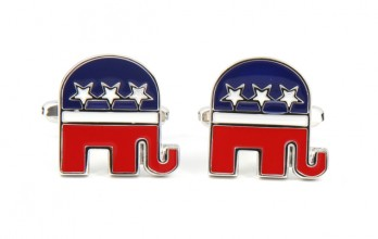 Republican elephant cufflinks - Pittsburgh
