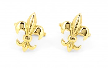 Gold Lily cufflinks - Saint Louis II