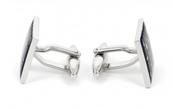 Anthracite Grey square cufflinks - Rovaniemi