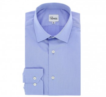 Blue Poplin Shark Collar Shirt regular fit