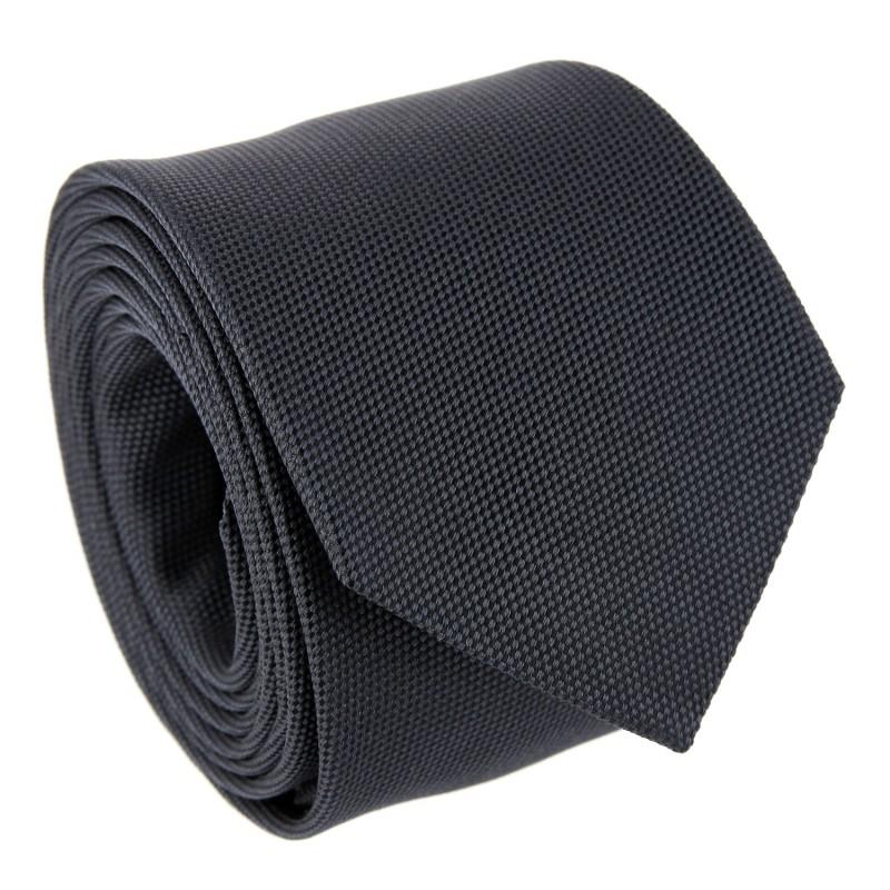 Dark Grey Basket Weave Silk The Nines Tie - Saint Honoré II