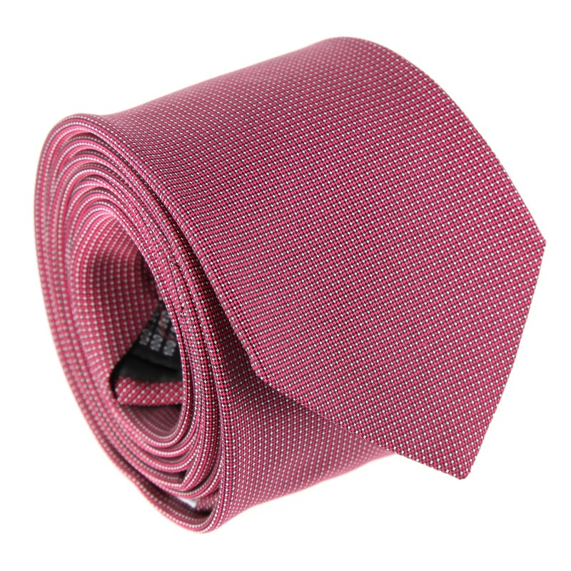 Raspberry with Pinhead Pattern The Nines Tie - Breteuil