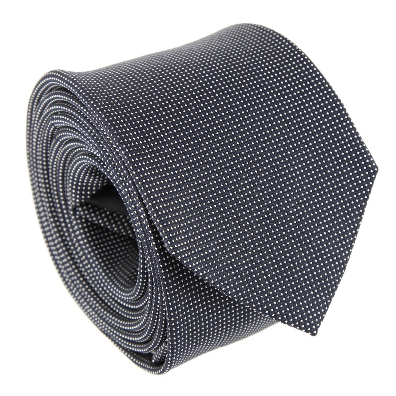 Navy Blue with Pinhead Pattern The Nines Tie - Breteuil