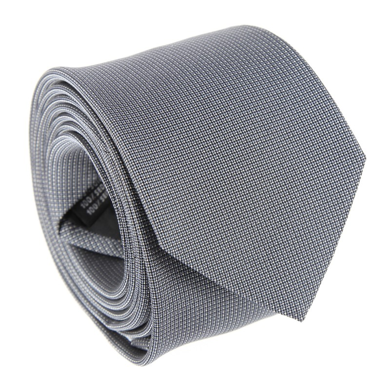 Grey with Pinhead Pattern The Nines Tie - Breteuil