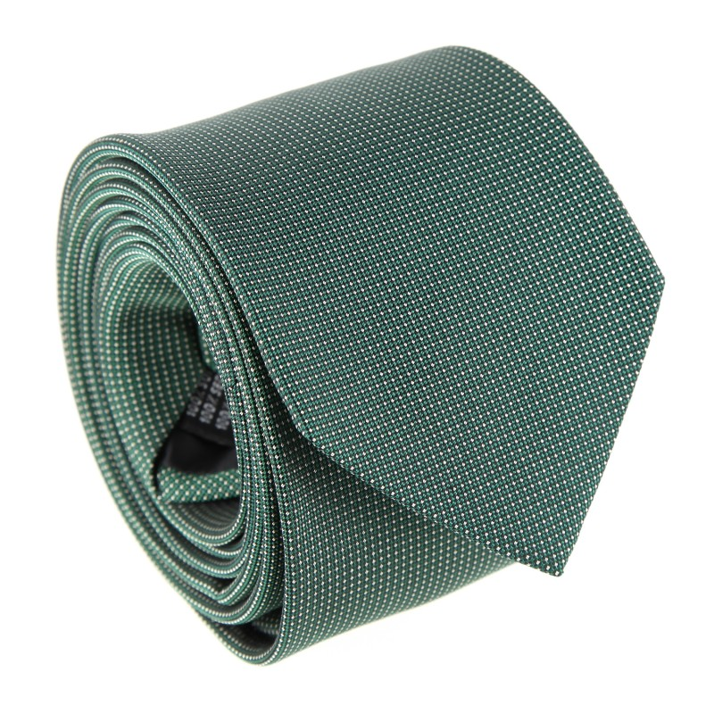 Green with Pinhead Pattern The Nines Tie - Breteuil