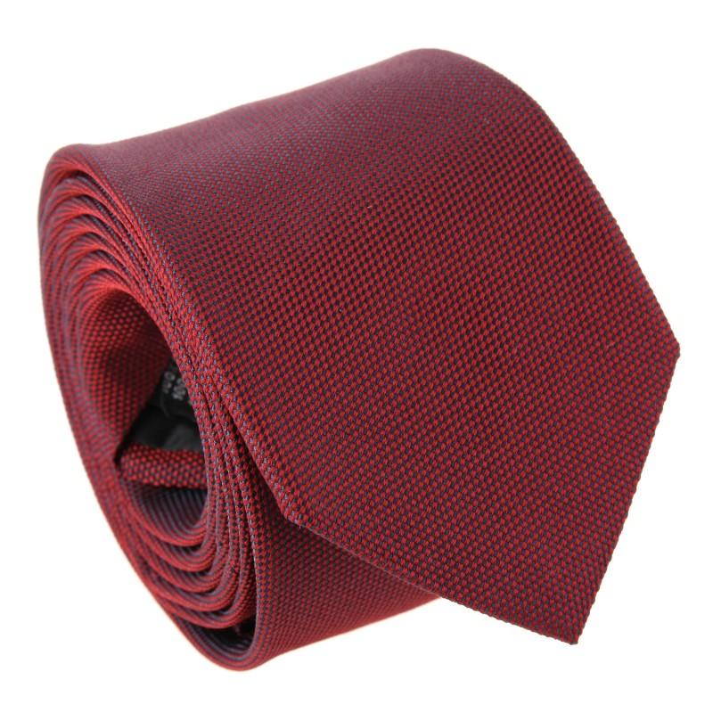 Dark Red The Nines Basket Weave Silk Tie - Baltimore III