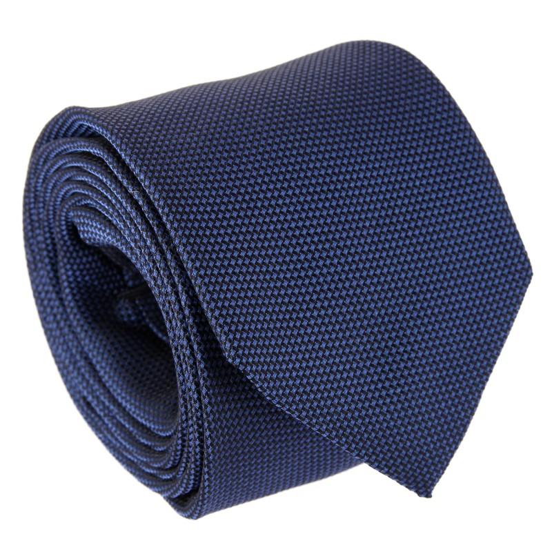 Blue Grenadine Silk Five Fold Tie - Vendome