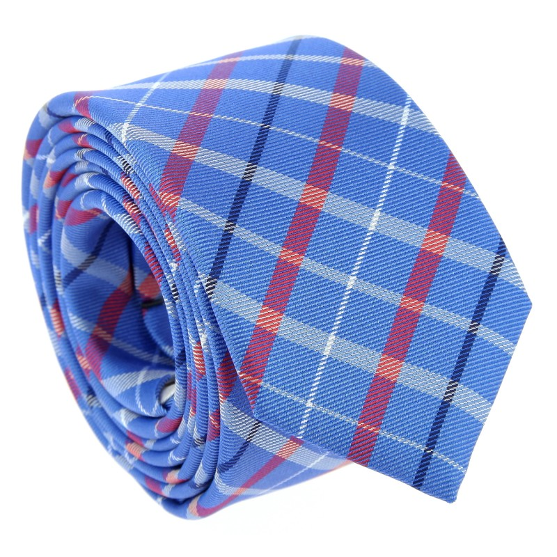 Brown Tartan Pattern Narrow Tie - Edinburgh