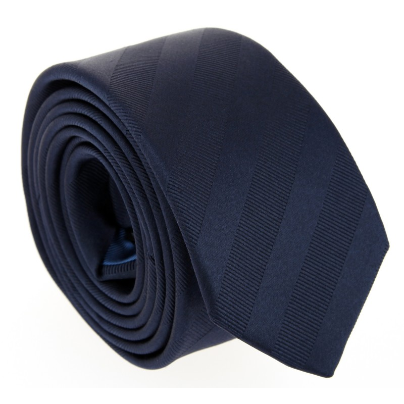 Semi Plain Navy Blue The Nines Tie - Birmingham