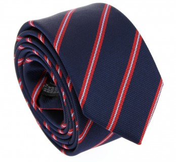 Navy Blue and Red Club Tie - York