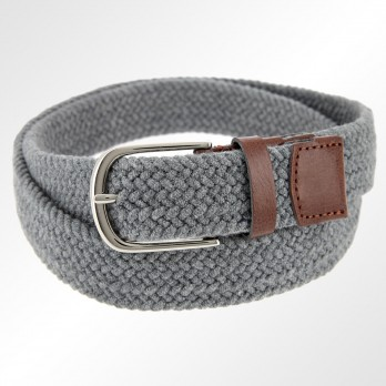 GREY WOOLEN ELASTIC BRAIDED BELT