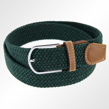 EMERALD GREEN ELASTIC BRAIDED BELT