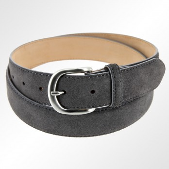 Suede belt in dark grey - Morgan