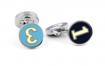 Hackett cufflinks - Blue Enamel Polo Number
