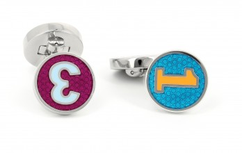Hackett cufflinks - Enamel Bright Polo Number