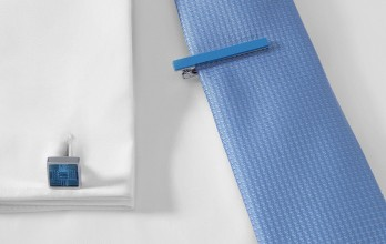 Hugo Boss cufflinks - Norberto Light Blue