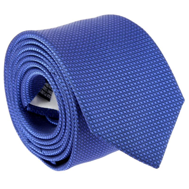 Blue Semi Plain Silk The Nines Tie - Pistoia