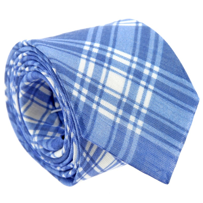 Blue Tartan Pattern Tie by The Nines - Dirleton