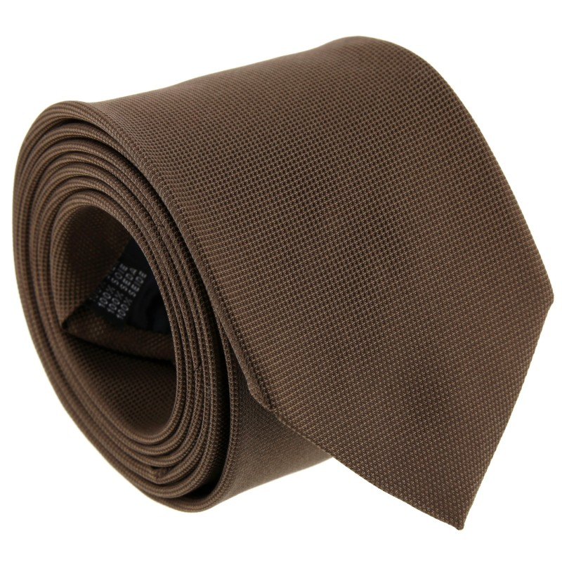 Brown Semi Plain Tie by The Nines - Viareggio