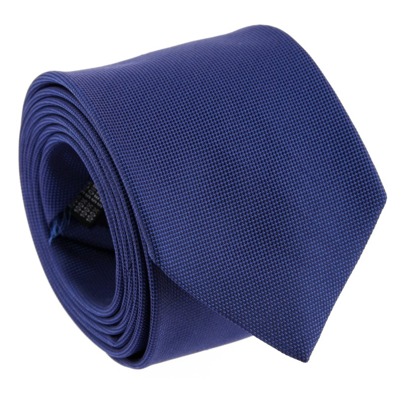 The Nines Navy Blue Semi Plain Tie - Viareggio