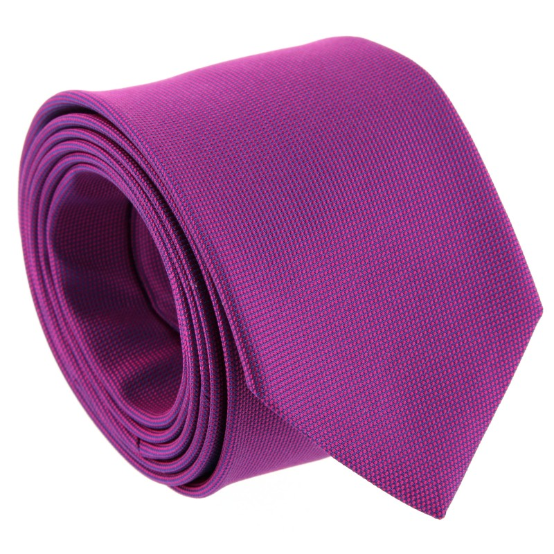 The Nines Magenta Semi Plain Tie - Viareggio