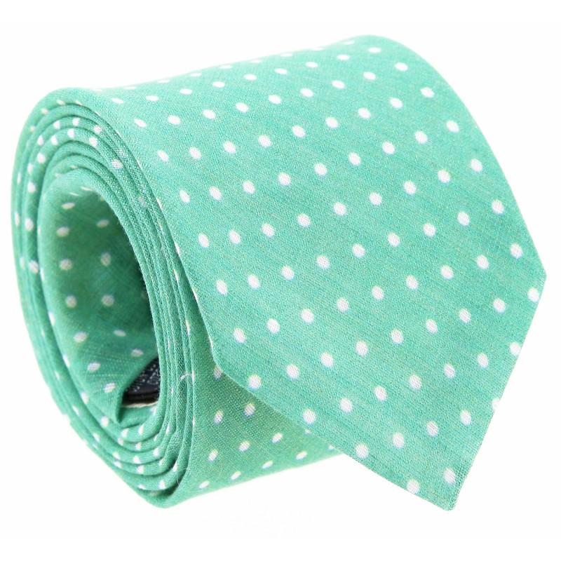 Green Polka Dot Tie by The Nines - Amalfi
