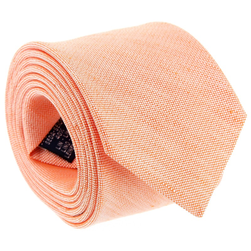 Orange Silk and Linen Tie by The Nines - Perugia