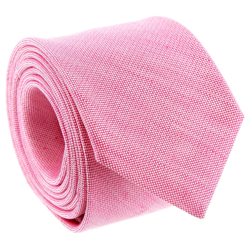 Pink Silk and Linen Tie by The Nines - Perugia