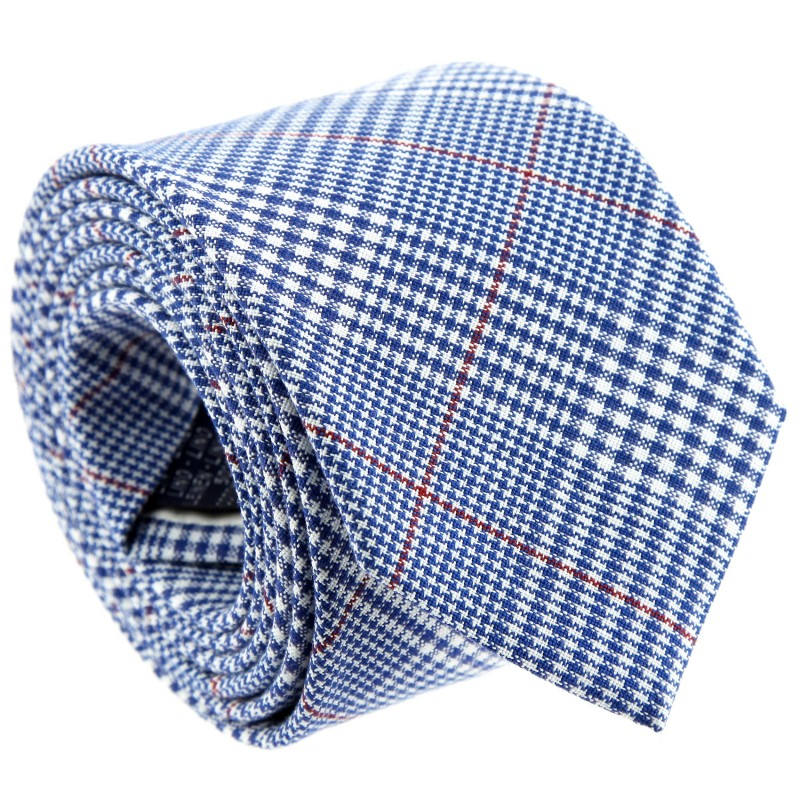 Blue Prince of Wales Check Tie by The Nines - Chester