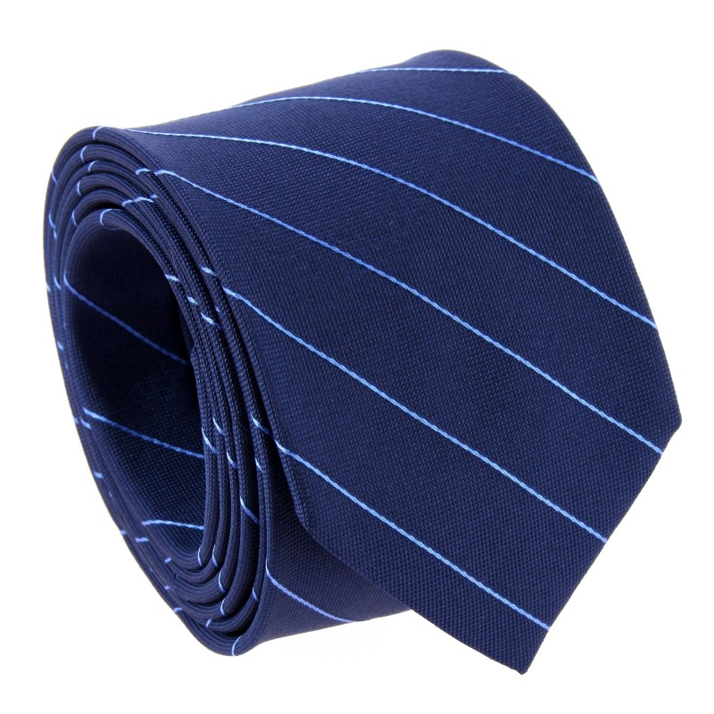 Navy Blue Tie With Blue Pinstripes by The Nines - Cetona
