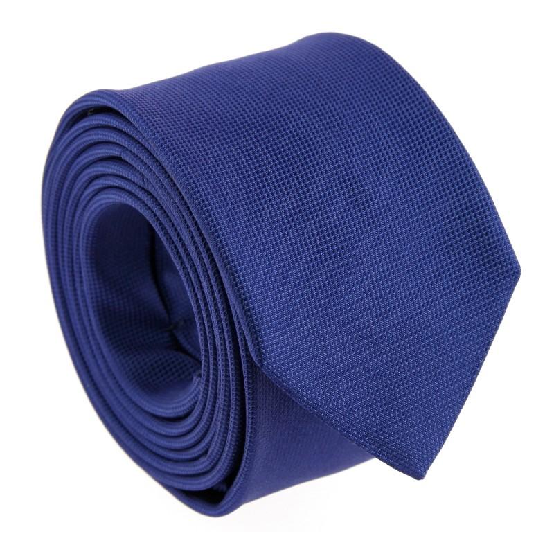 Navy Blue Basket Weave Silk Tie by The Nines - Caserta