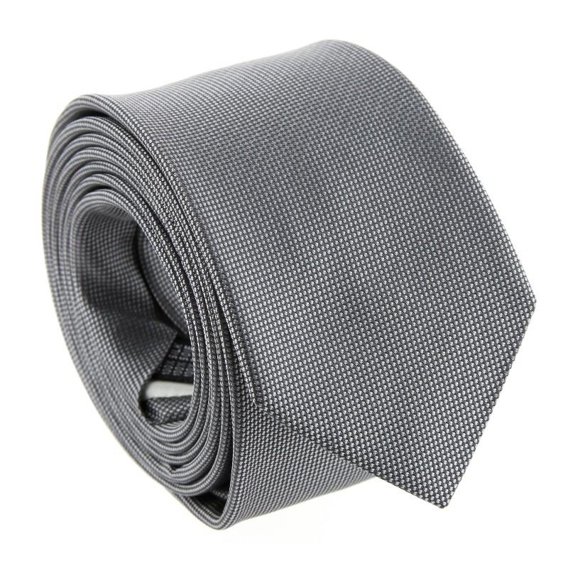 Grey Basket Weave Silk Tie by The Nines - Catania