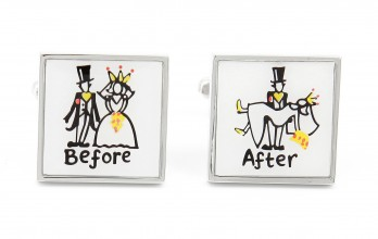 Wedding cufflinks - Special Day Before/After