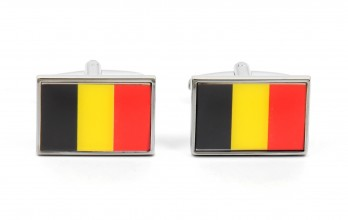 Flag cufflinks - Belgian Flag