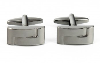 Rectangular gunmetal cufflinks - Portland