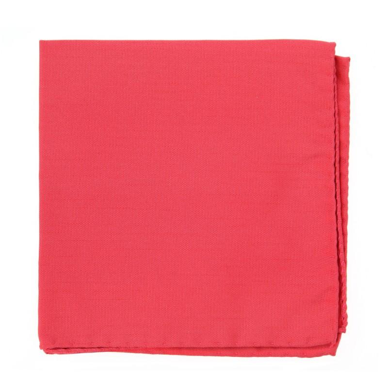 Coral Pink Pocket Square - Milan II