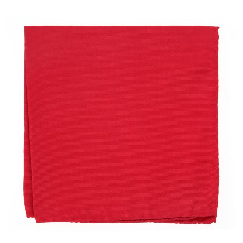 English Red Pocket Square - Milan II
