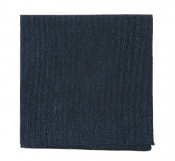 Green Woolen and Silk Pocket Square With Herringbone Pattern - Trieste