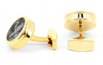 Gold Tourbillon watch movement cufflinks - Genève gold