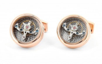 Rose gold Tourbillon watch movement cufflinks - Genève rosegold