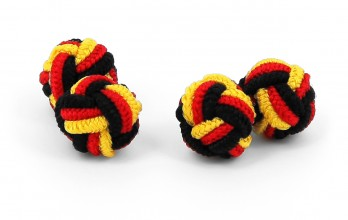 Black, red and yellow silk knots - Bombay