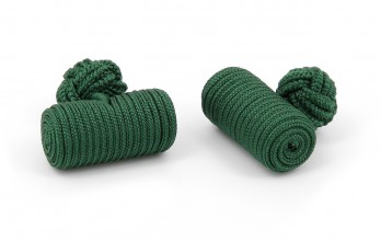 Green barrel silk knots - Bali