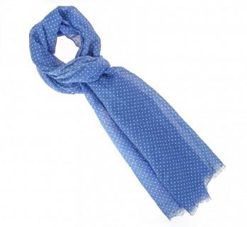 Blue polka-dot cotton scarf - The Nines