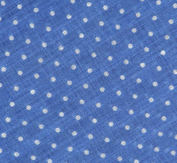 Blue polka-dot cotton scarf - The Nines
